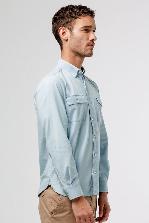 Denim Shirt Double Chest Pockets - Life in Paradigm Menswear London