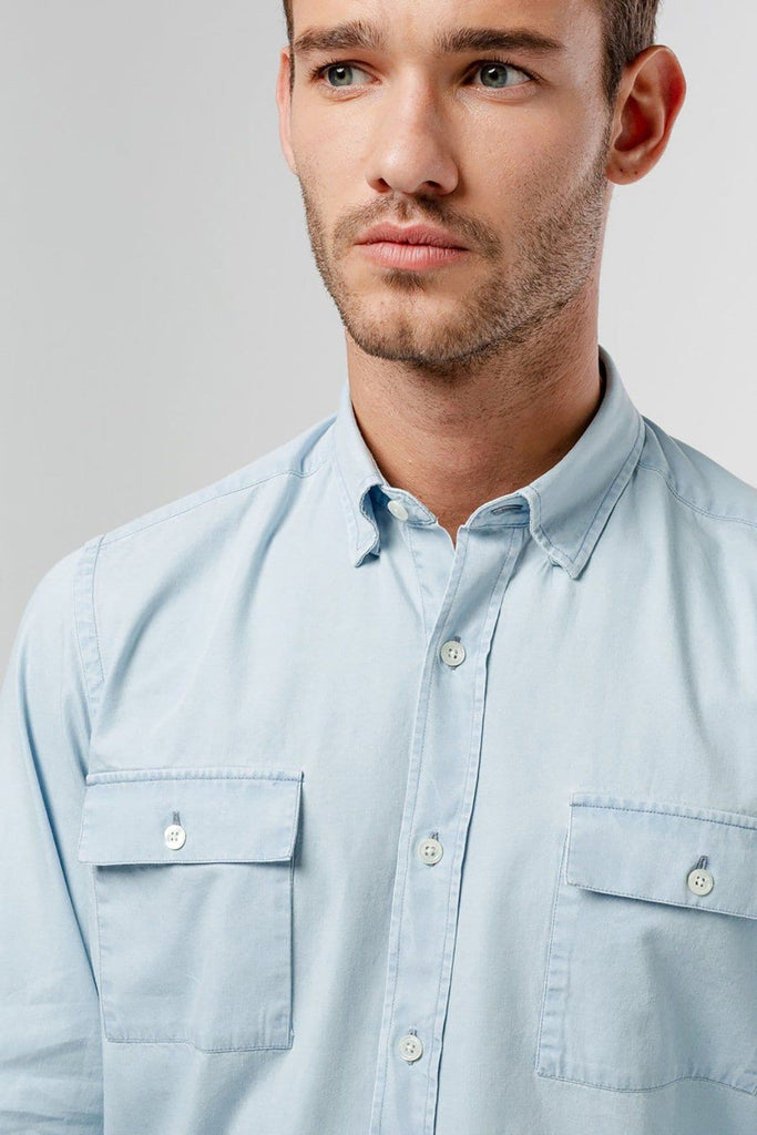 Denim Shirt Double Chest Pockets - Life in Paradigm
