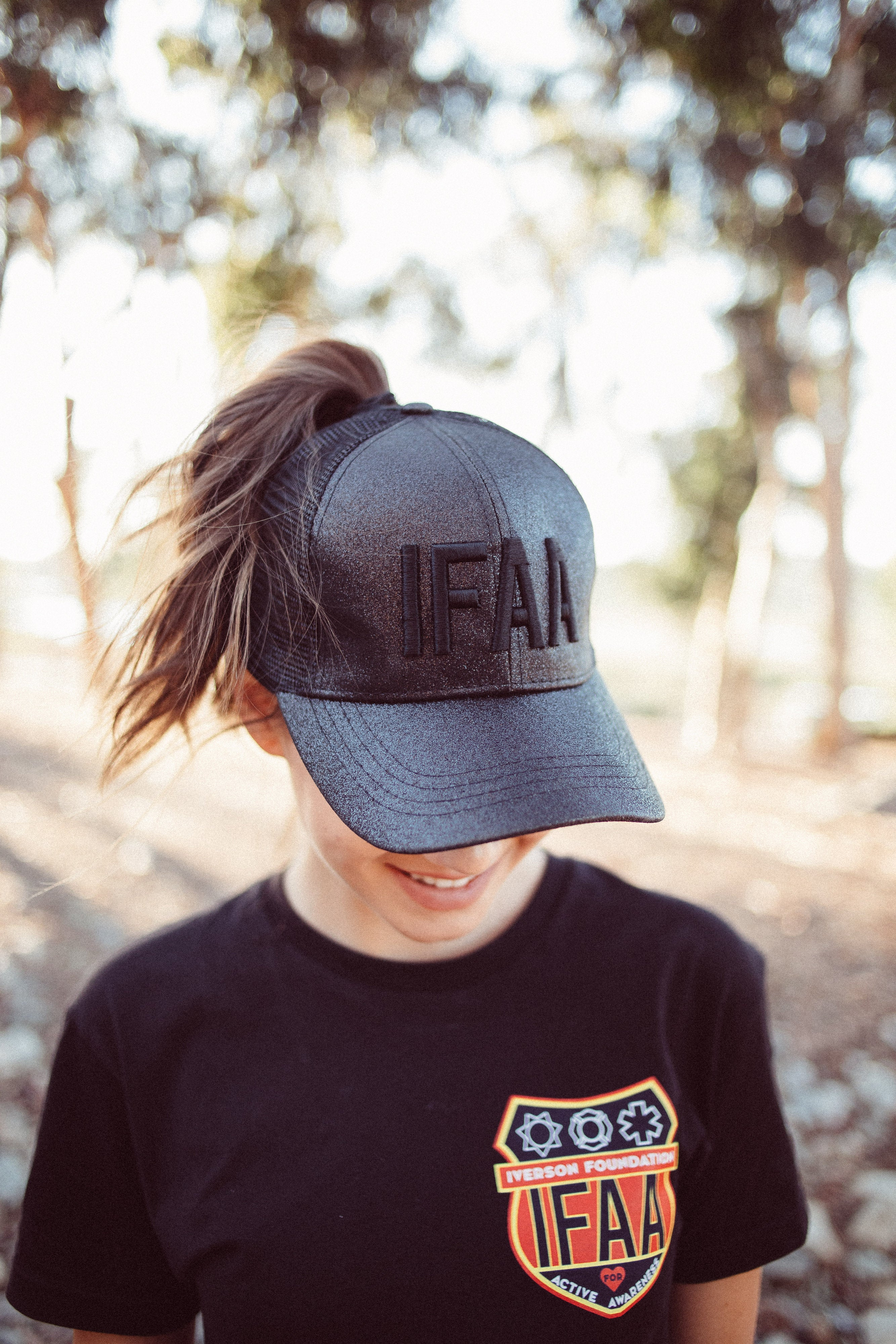Sparkle Black on Black IFAA Hat