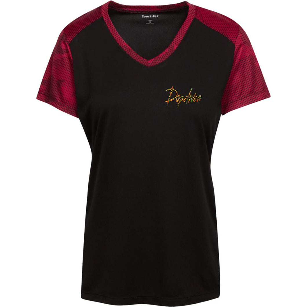 Dopeliven Ladies' CamoHex Colorblock T-Shirt