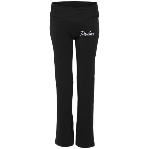 Dopeliven Ladies' Yoga Pants (w/white embroidered lettering)