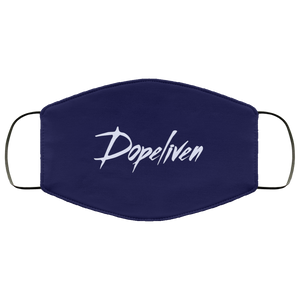 DopeLiven, Face Mask (White Logo, Multiple Colors Available)