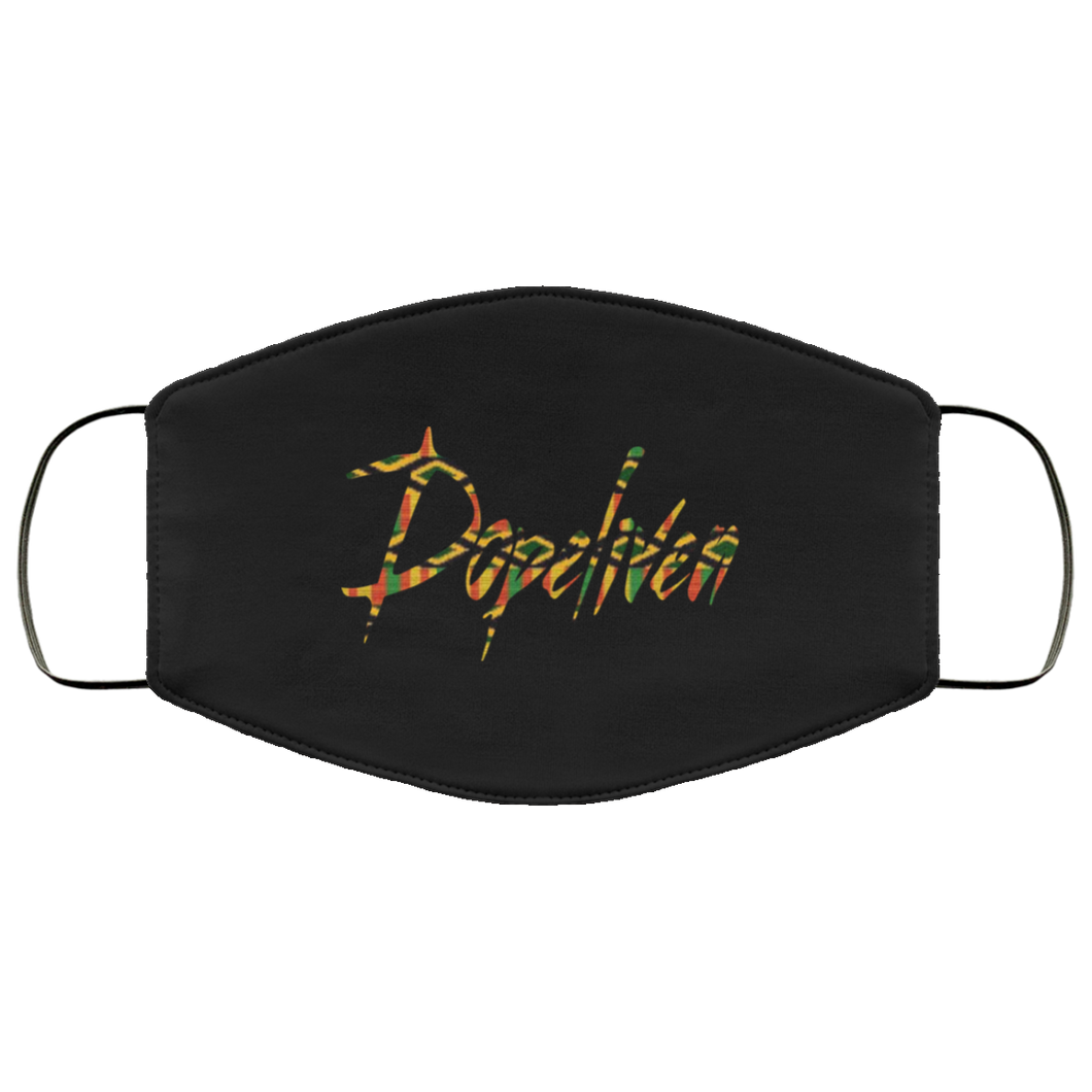DopeLiven, Kente Cloth Logo,  Face Mask, Multiple Colors Available