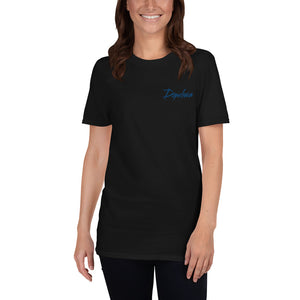 Dopeliven Embroidered, Short-Sleeve Unisex T-Shirt