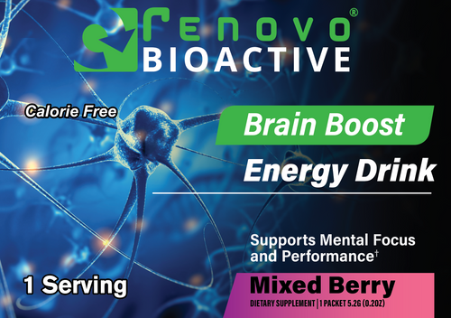 Brain Boost Energy Drink Mix-Berry Flavored (25 single serving packets)