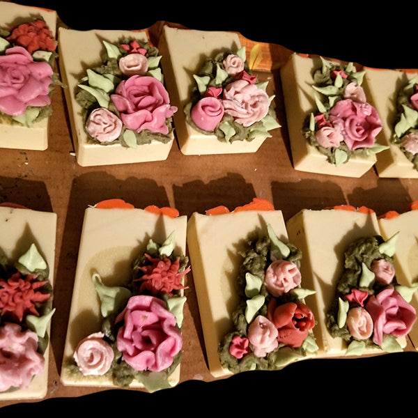Natural Handmade Soap. Rose Time Vegan Soap - Shea, Cocoa, Mango, Kaolin, Grapefruit, Gardenia, Magnolia & Orchid