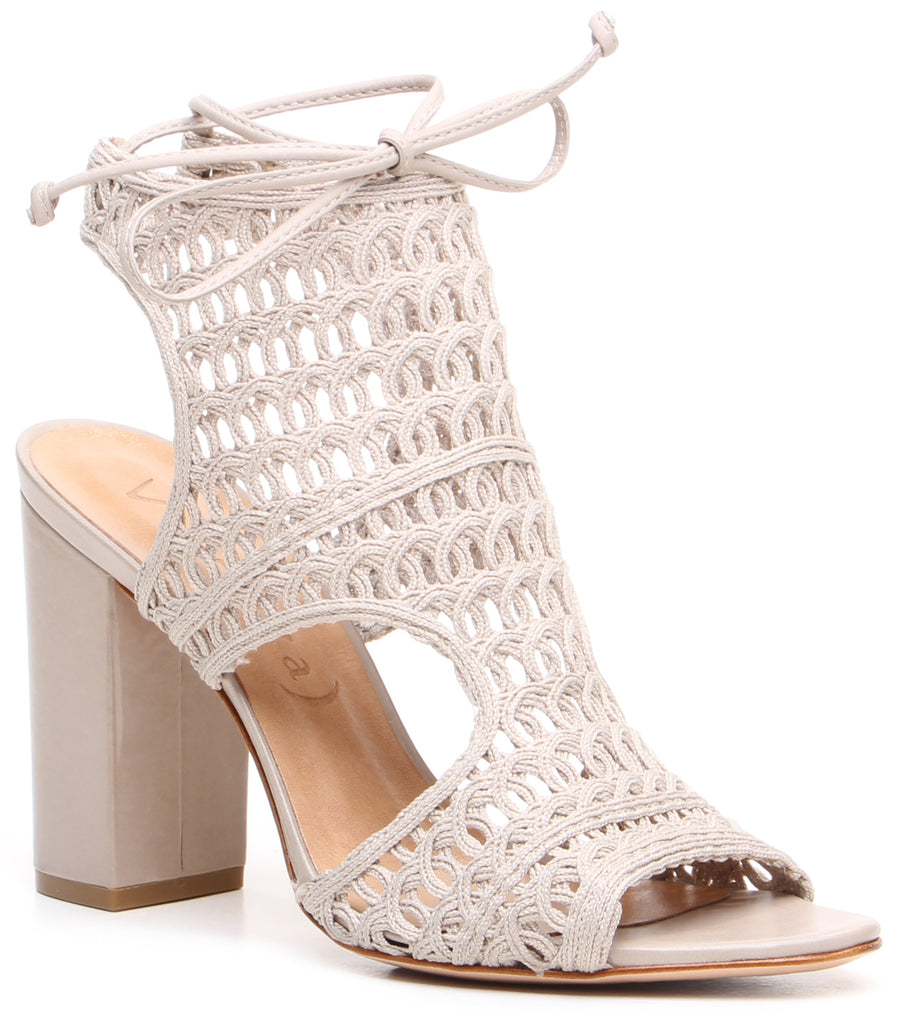 Dalia Block Heel Sandals Taupe