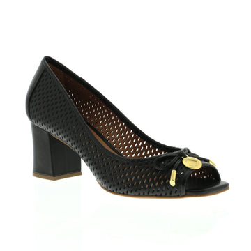 Lizbeth Peep-Toe Court Black