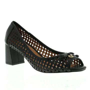 Liberty Peep-Toe Court Black