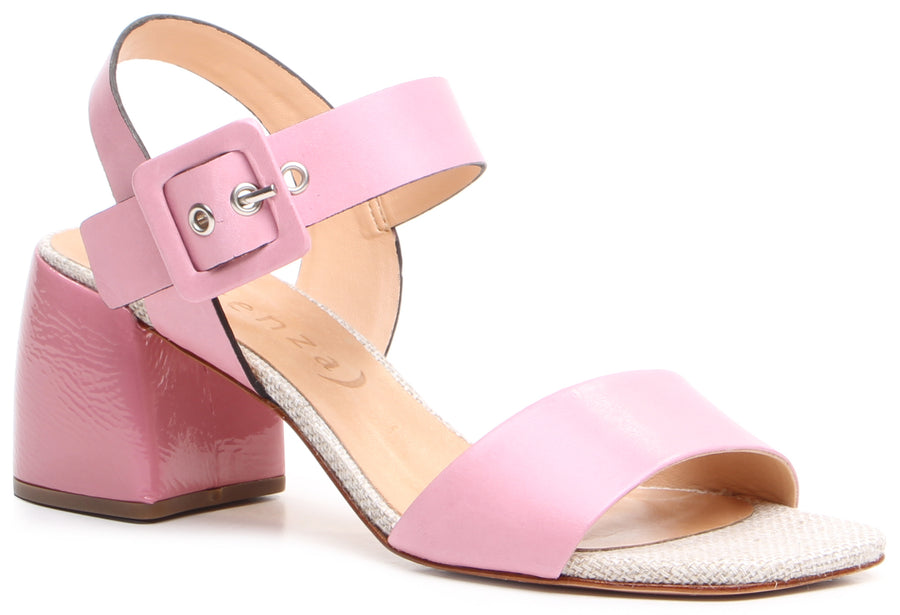 Paola Block Heel Sandals Pink