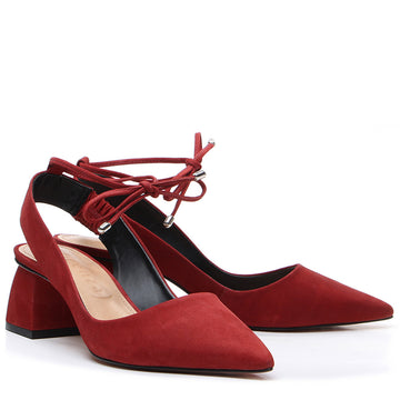 Montreal Slingback Pump Red