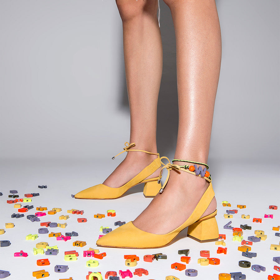 Montreal Slingback Pump Yellow