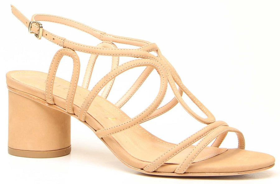 Vita Low Heel Sandals Nude