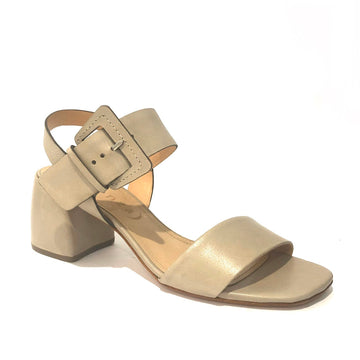 Isabelle Mid Heel Sandals Taupe
