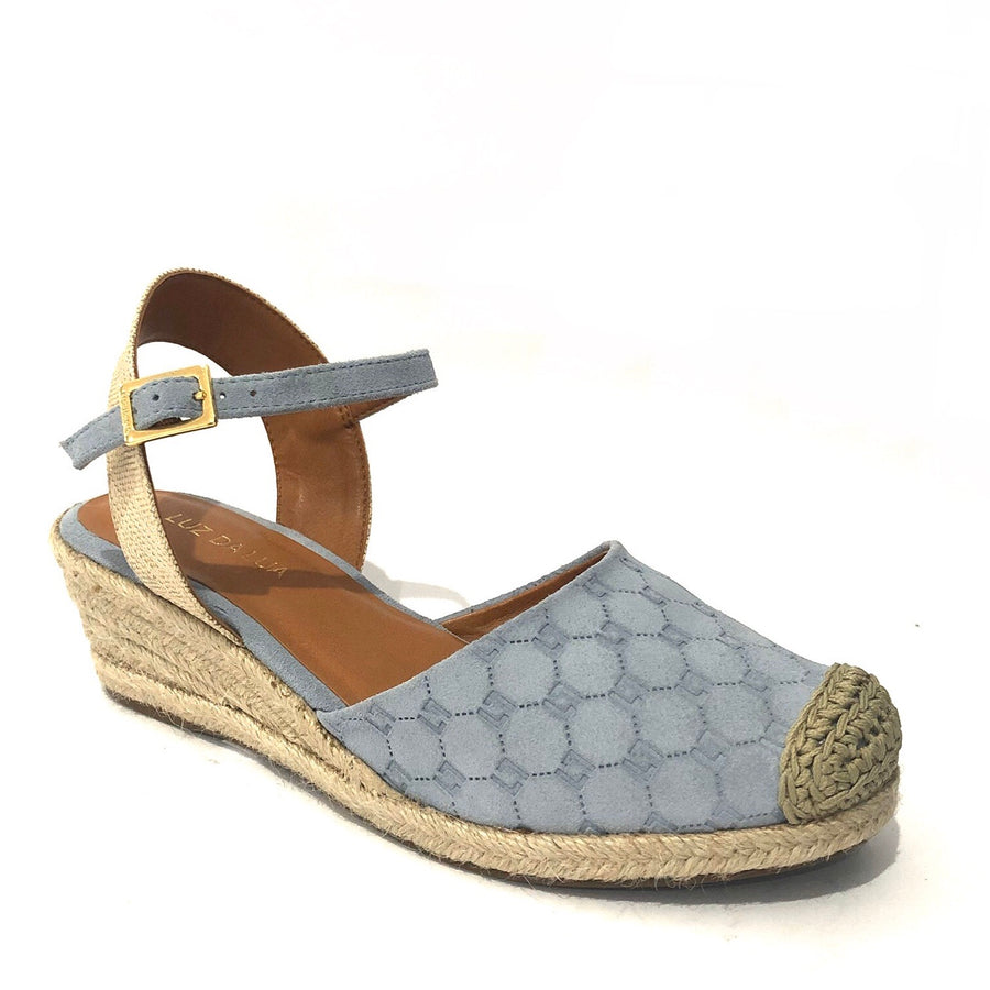 Aja Wedge Sandals Baby Blue
