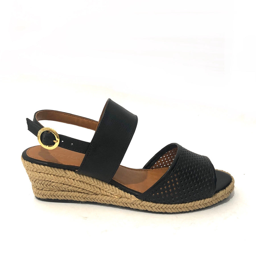 Courtney Low Wedges Black Leather