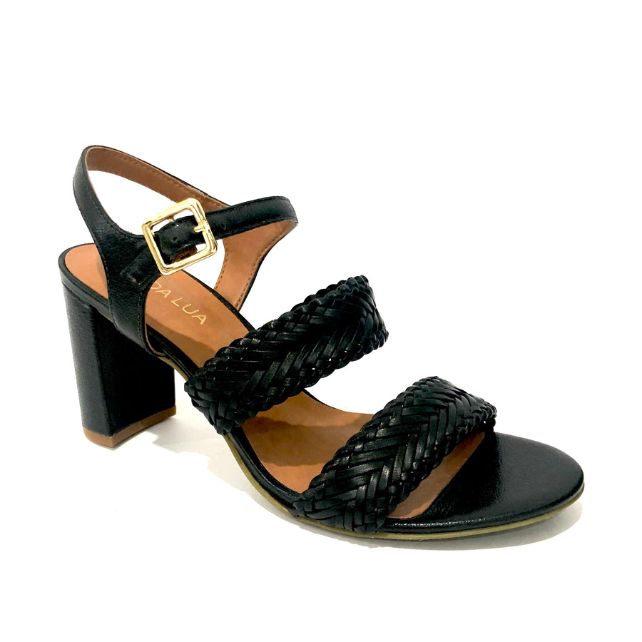 Lania Heeled Sandals Black