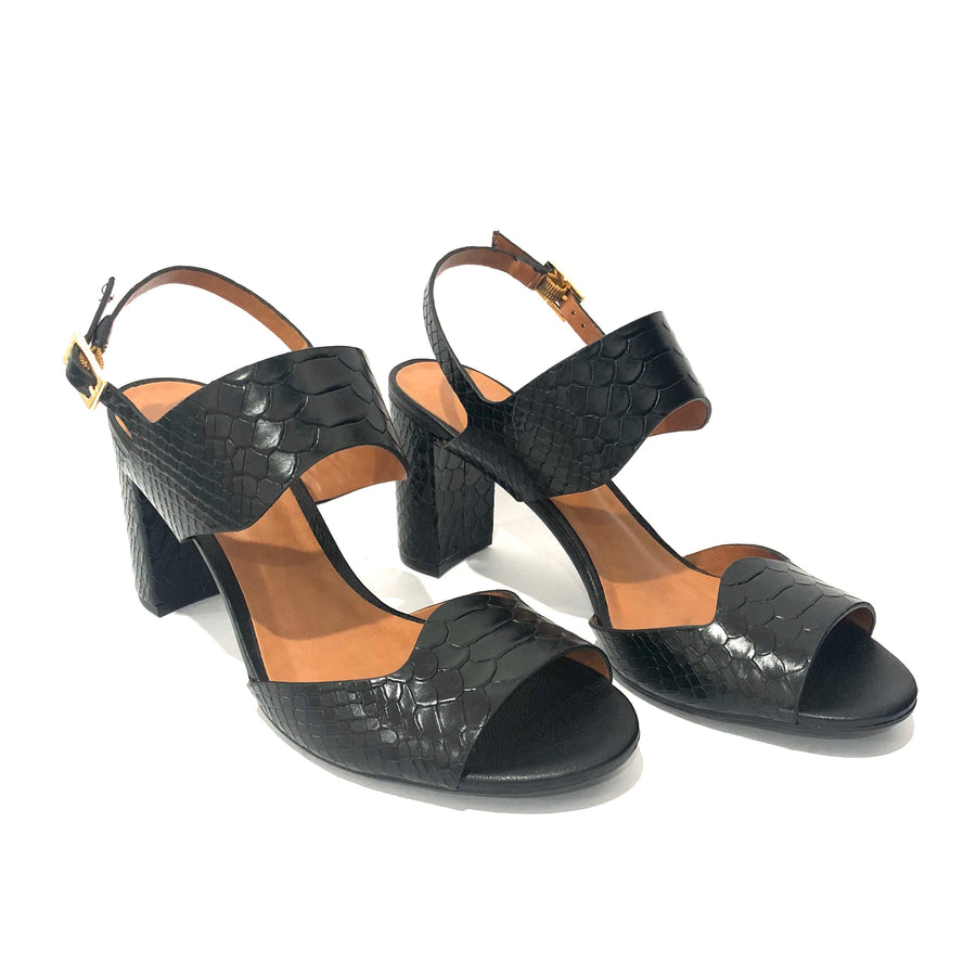 Trinity High Heel Sandals Black Croco