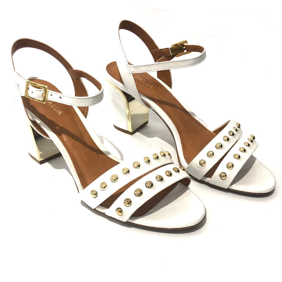 Lotta Heeled Sandal White