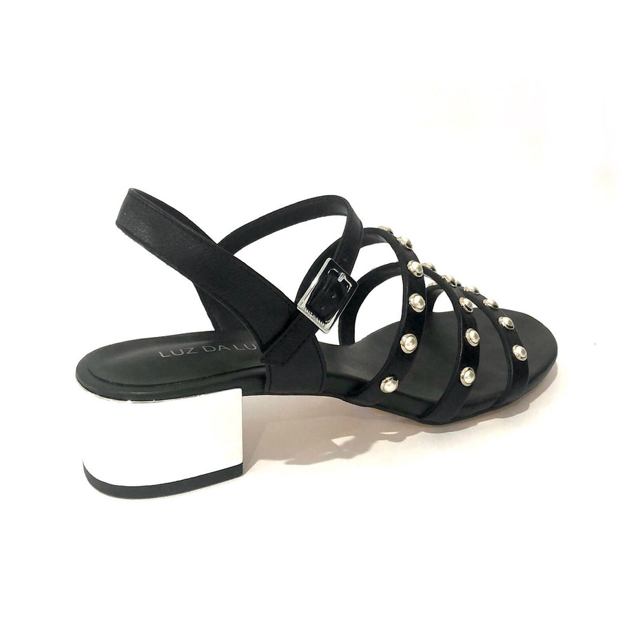 Pearl Sandals Black