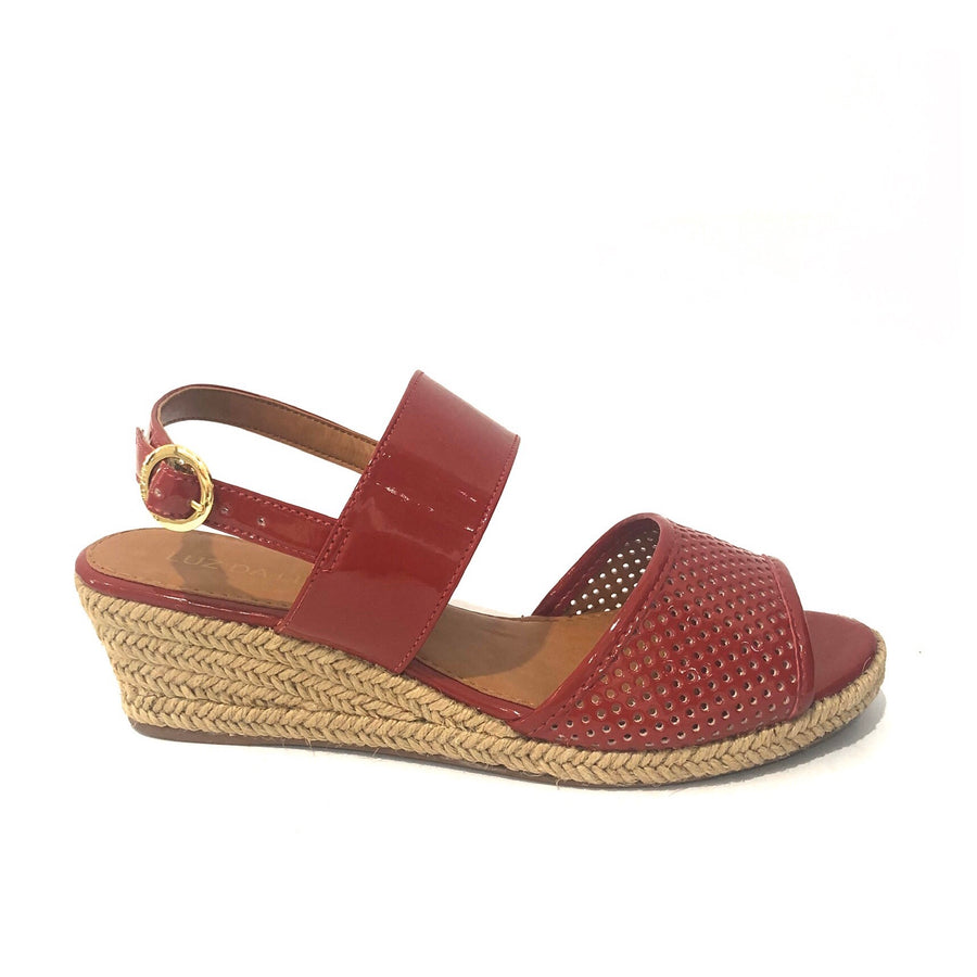 Courtney Low Wedges Red Patent