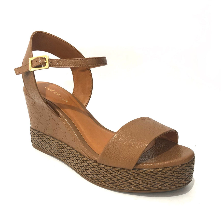 Raven Heeled Wedges Tan
