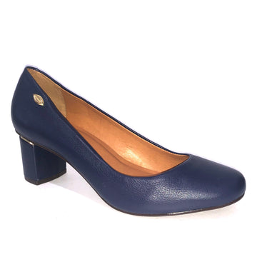 Loyal Mid Heel Court Navy