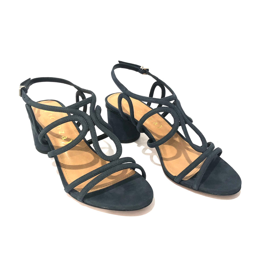 Vita Low Heel Sandals Navy