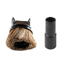 Load image into Gallery viewer, aiRider vacuum attachment horsehair dusting brush and upholstery tool w/ adapter
