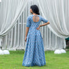 Royal Blue Vintage Silhouette Gold Dress