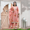 Handpainted Dusty Rose Chanderi Gota suit