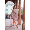 Floral Jaal Hand Block Printed Suit Set in Peach