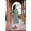 Pickle Paisley Block Printed Straight Kurta