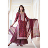 Ruby Red Chanderi Gota Suit Set