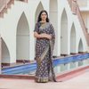 Bagru Chanderi Saree With Zari Border