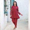 Embroidered Kurta With Tulip Pants