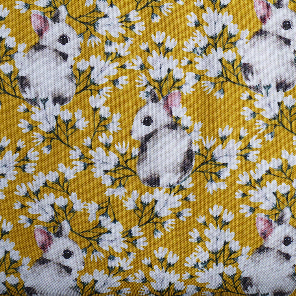 Spring Bunnies Cotton Ochre