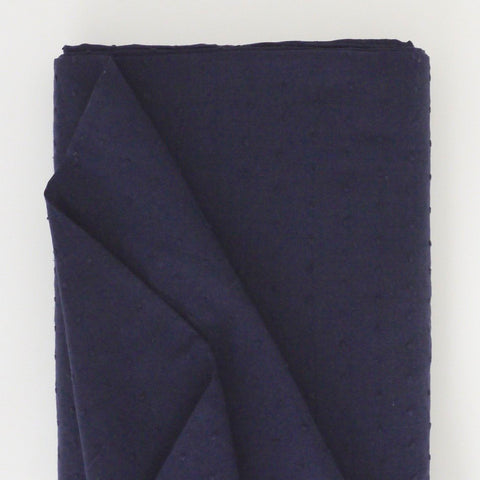 Dobby Cotton - Navy