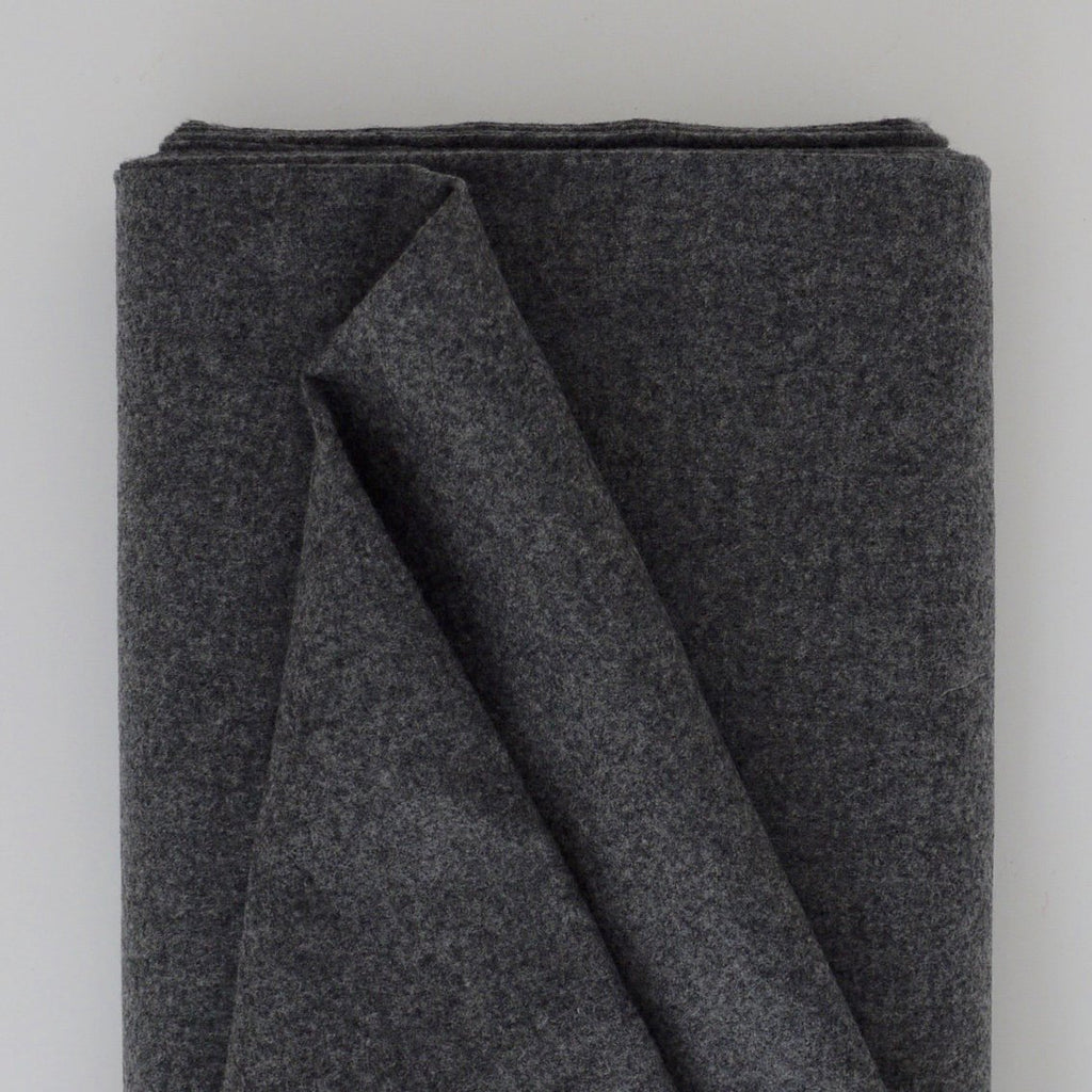 Designer Ends - Grey Felted Wool