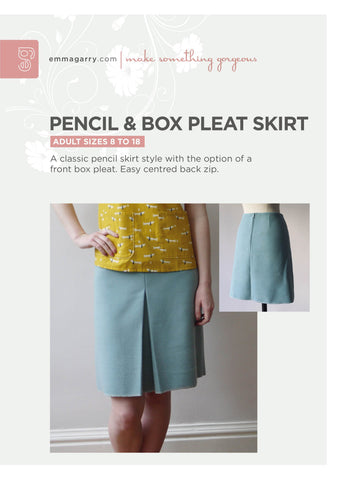 E.G. - Pencil And Box Pleat Skirt