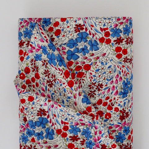 Lawn - Red/Blue Floral