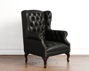 Buttoned Wingback Chair