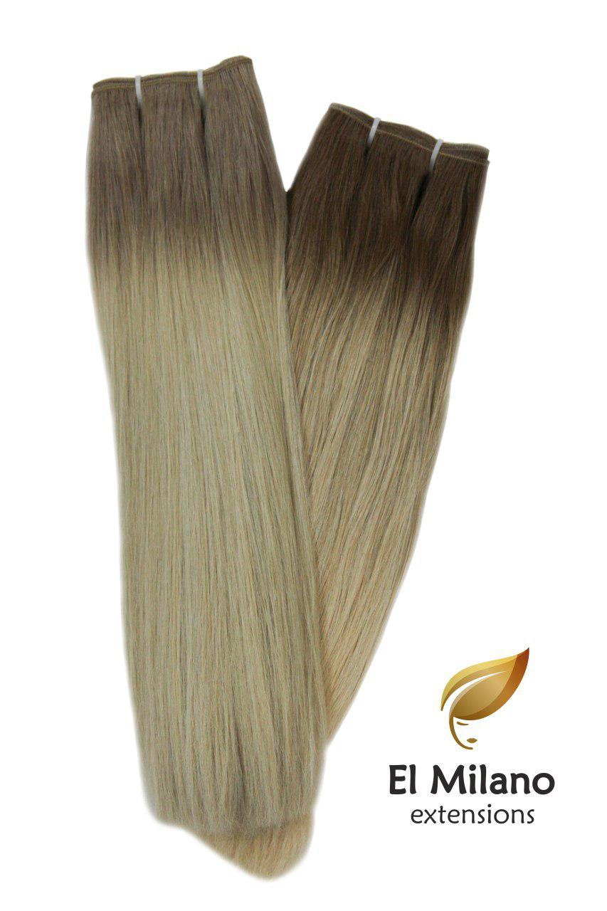 "20"" Length East-European Colored & Blond Weft Hair Extensions"