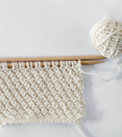 Knitting Stitch: Easy + Textured Stitch