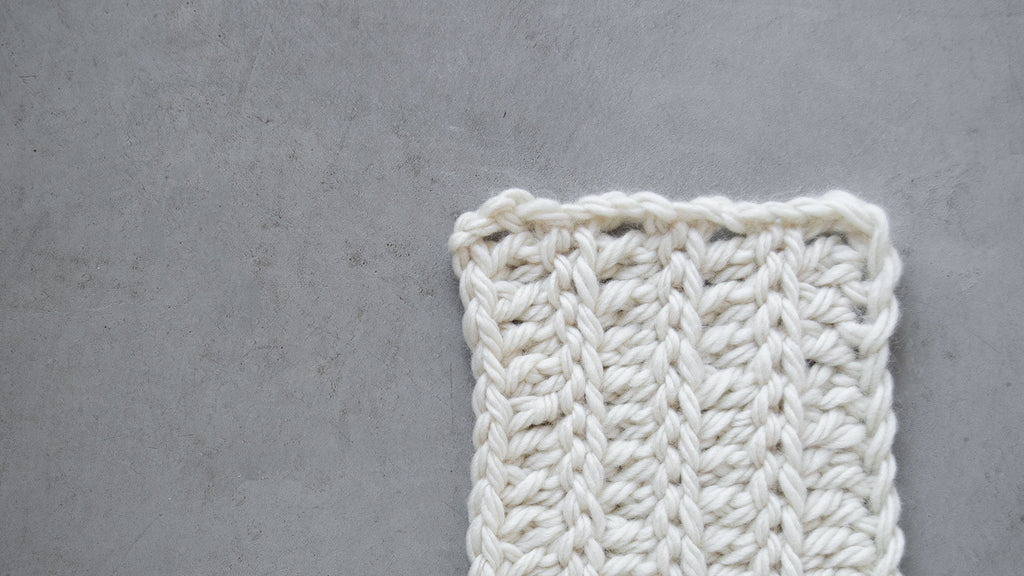 Braided Extended Half Double Crochet Stitch in Natural Patagonian Yarn