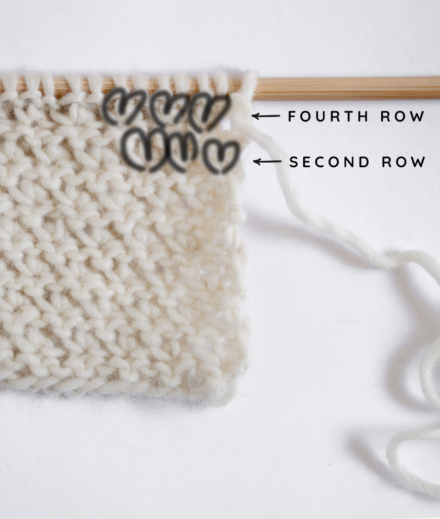 Easy Textured Stitch Tutorial step by step for scarves