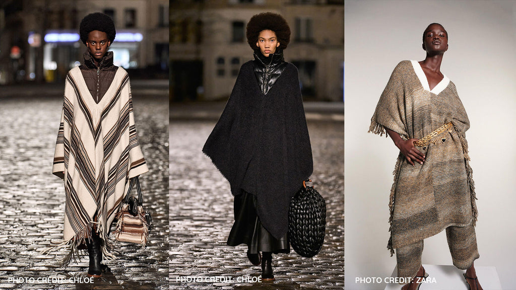 The Poncho Trend Fall Winter 21/22 - Subtle colors or monochromatic colors