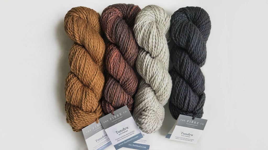 The Fibre Co - Tundra yarn - Silk, alpaca and wool blend - 4 colors available at Max and Herb