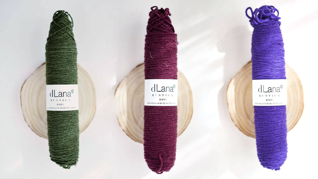 dLana yarn in the US - color D9 D3 D4