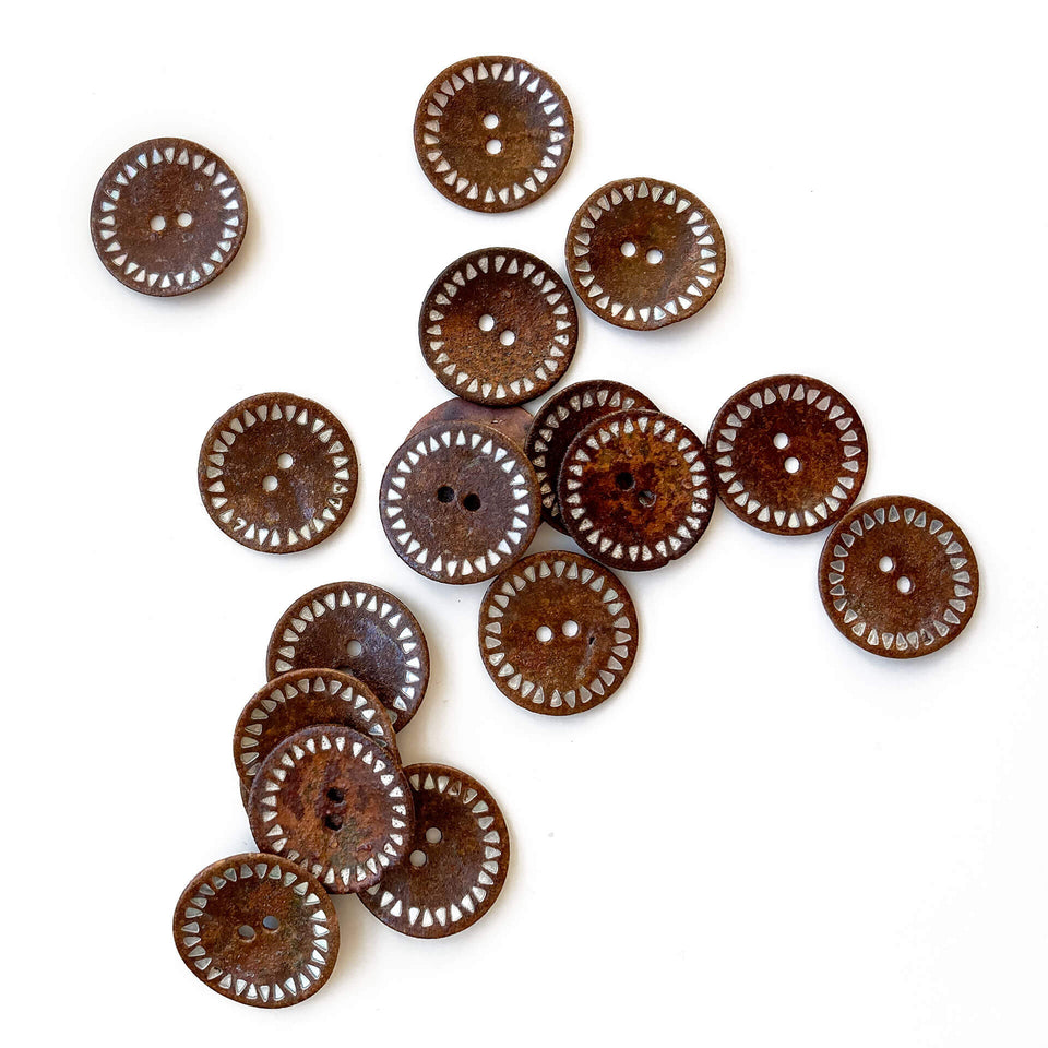 Rusty Textured Shell Button